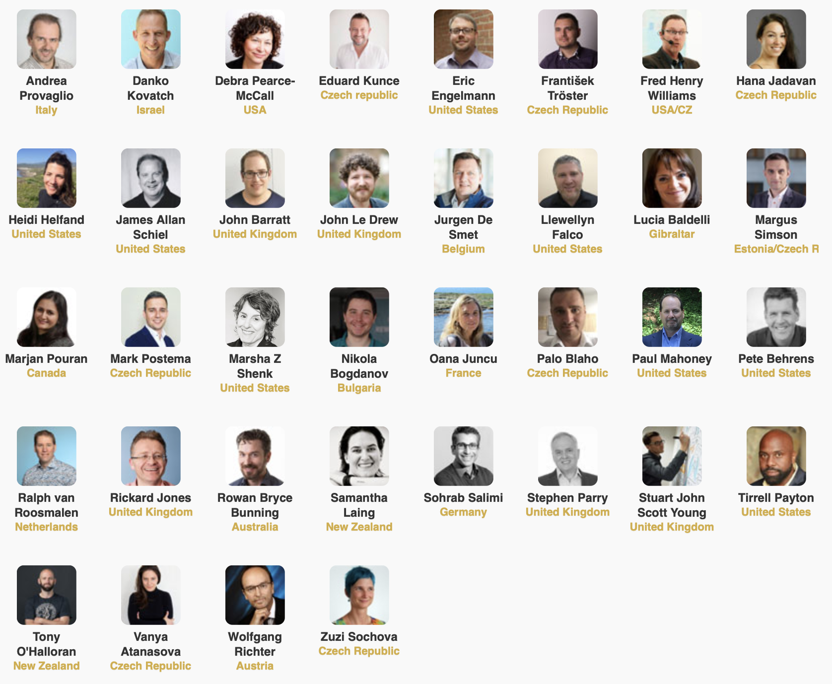 Agile Prague Speakers 2019