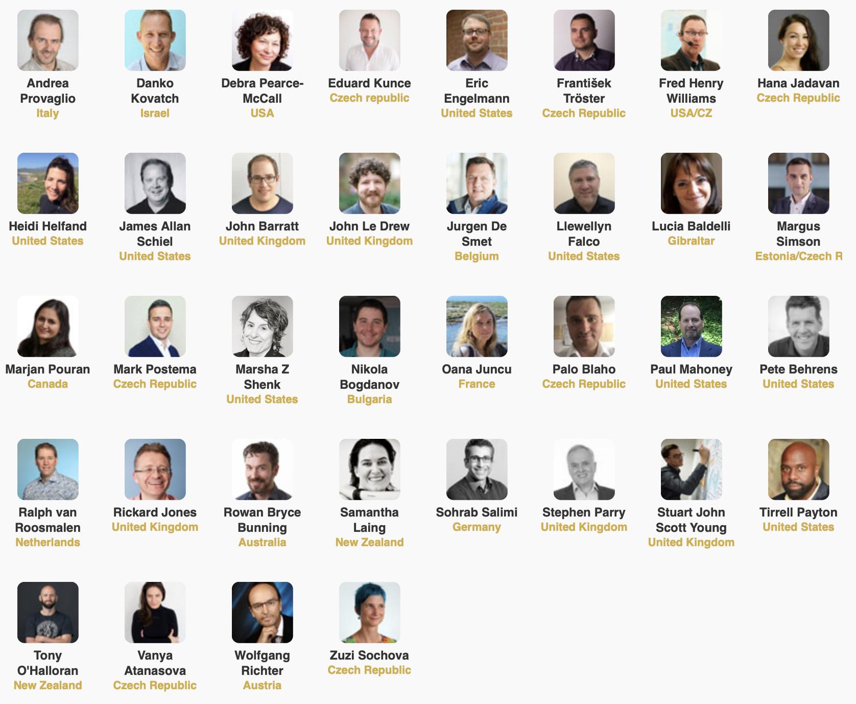 Agile Prague Speakers 2019